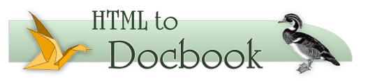 HTML to Docbook
